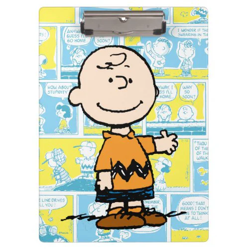 Peanuts | Charlie Brown Comic Pattern Clipboard