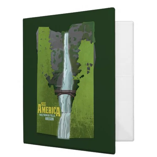 Multnomah Falls, Lewis & Clark Trail 3 Ring Binder