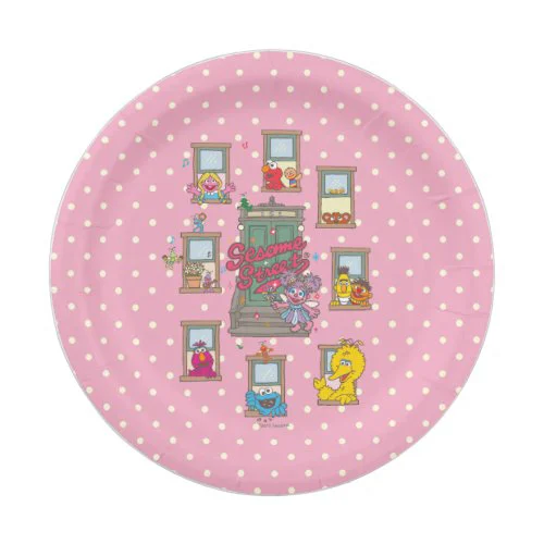 Window Vintage Art Paper Plate