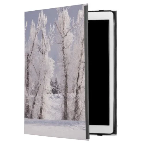 "Frost Covered Trees and Fence, Colorado iPad Pro 12.9"" Case"