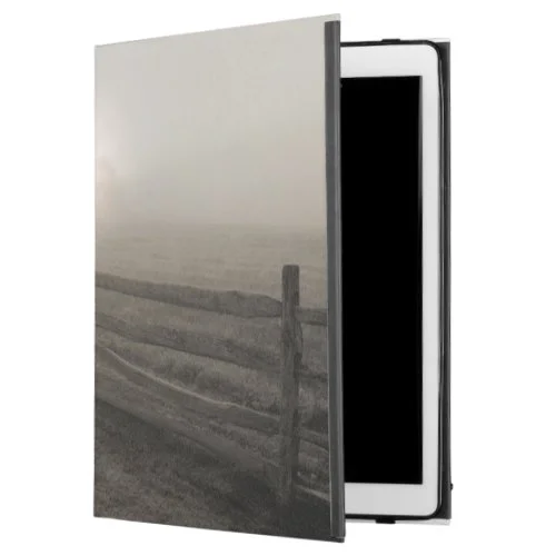 "Fence and Sunburst Through Fog near Sharon iPad Pro 12.9"" Case"