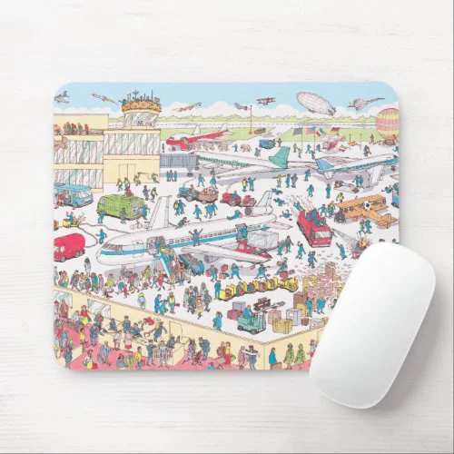 Where's Waldo | Airport Mouse Pad