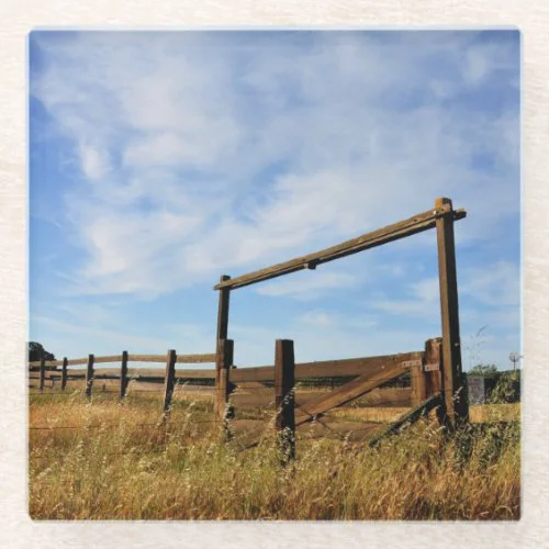 Fences in Field Glass Coaster