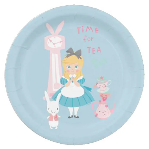 Alice In Wonderland | Time For Tea Paper Plate