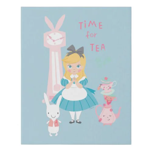 Alice In Wonderland | Time For Tea Faux Canvas Print