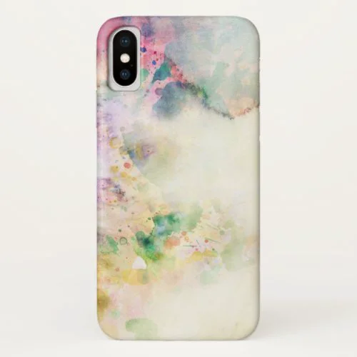 Abstract grunge texture with watercolor paint iPhone x case