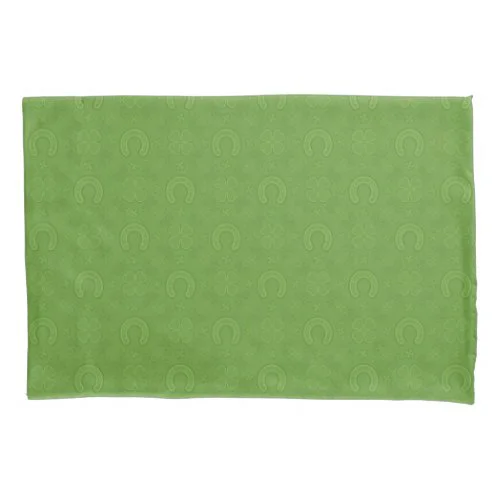 Lucky Green Icons Pattern Pillow Case