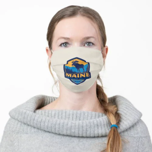 Maine | Moose - The Way Life Should Be Adult Cloth Face Mask