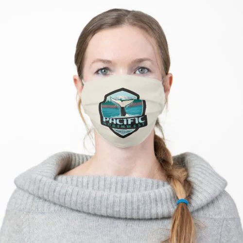 Pacific Northwest Orca Tail Emblem Adult Cloth Face Mask