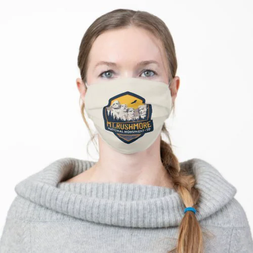 Mt. Rushmore National Monument SD Adult Cloth Face Mask