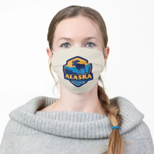 Alaska | Moose - The Last Frontier Adult Cloth Face Mask