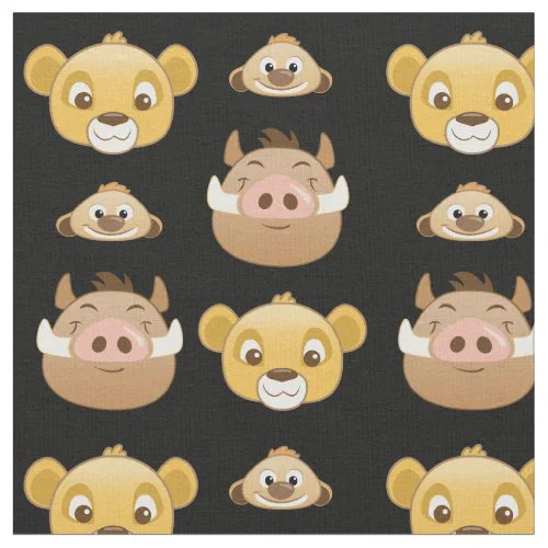 Lion King Emoji Land Pattern Fabric