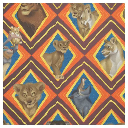 Lion King | Characters Diamond Pattern Fabric
