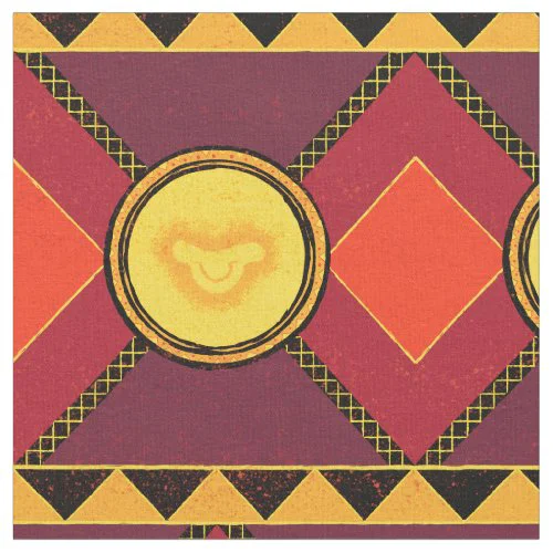 Lion King | Simba Icon African Style Pattern Fabric