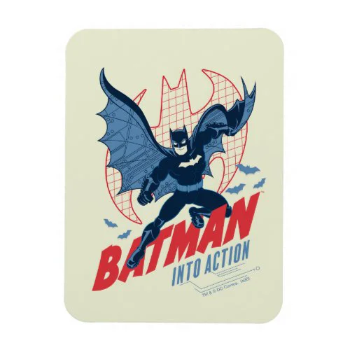 Batman Into Action Magnet