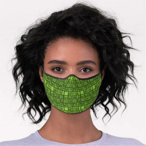 Tiki Pattern Premium Face Mask