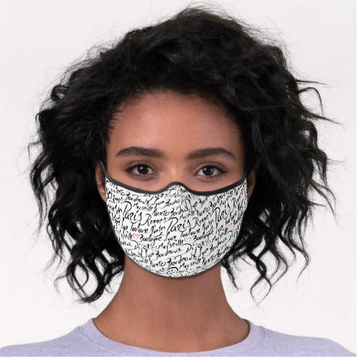 Towns of France Pattern Premium Face Mask