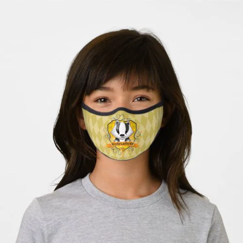 Harry Potter | Charming HUFFLEPUFF™ Crest Premium Face Mask