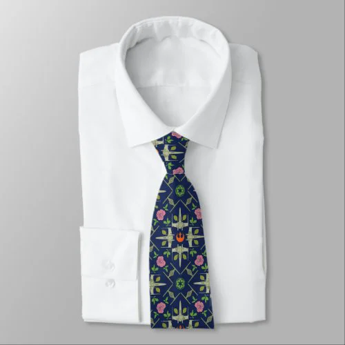 Star Wars Symbols & Vehicles Floral Pattern Neck Tie