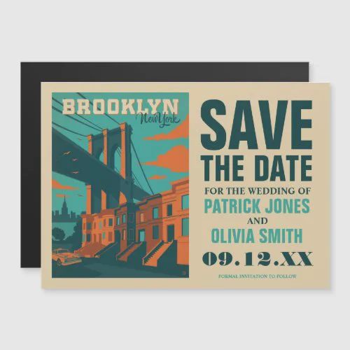 Save the Date | Brooklyn, NY Magnetic Invitation