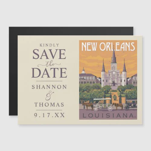 New Orleans, LA | Save the Date Magnetic Invitation