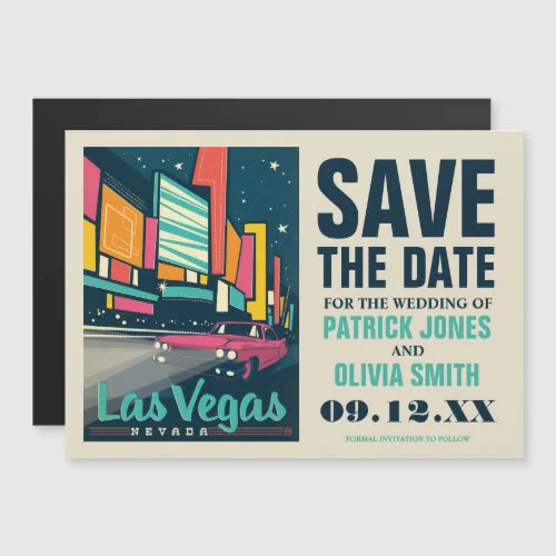 Save the Date | Las Vegas, NV Magnetic Invitation