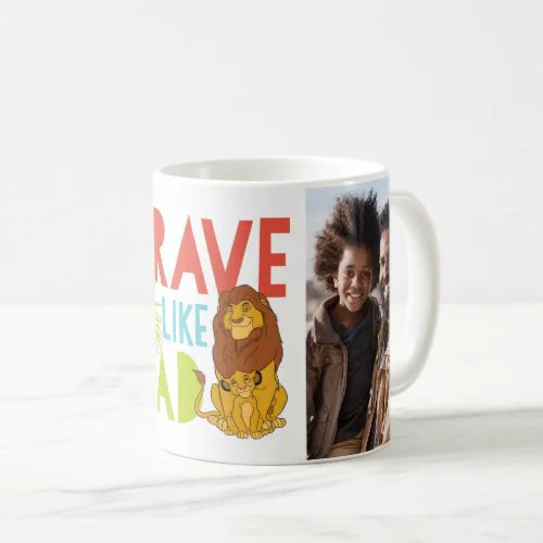 Brave Like Dad Two-Tone Coffee Photo Mug