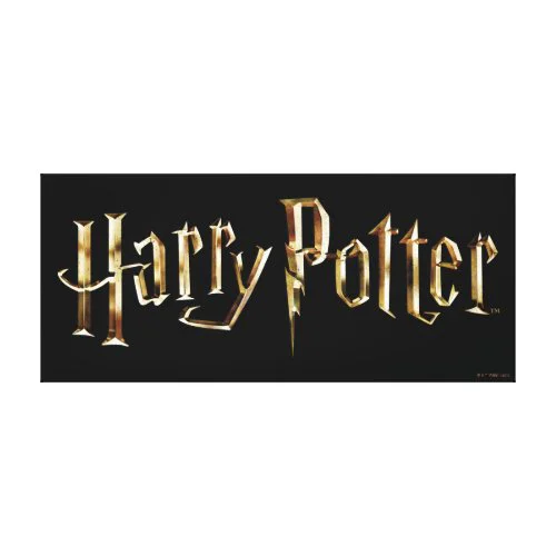 Gold Harry Potter Logo Canvas Print