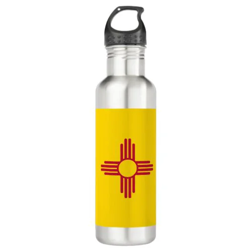 New Mexico (US State) Flag Stainless Steel Water Bottle