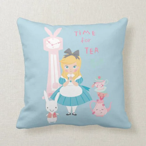 Alice In Wonderland | Time For Tea Throw Pillow