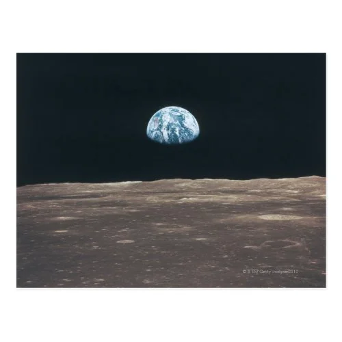 Earth Seen from the Moon Postcard