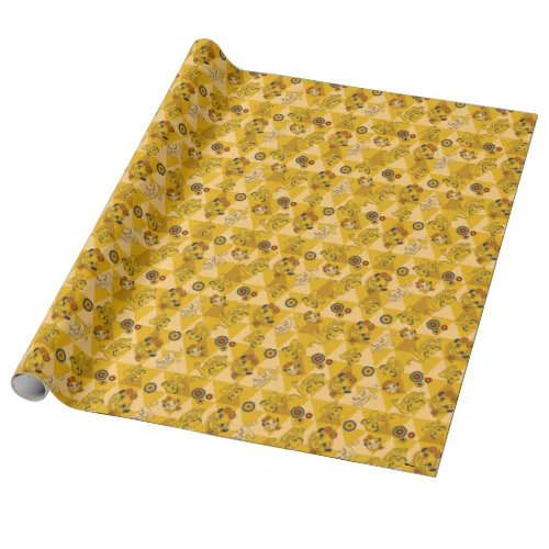 Lion King | Simba on Triangle Pattern Wrapping Paper