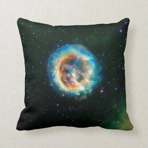 E0102, Adding a New Dimension to an Old Explosion Throw Pillow