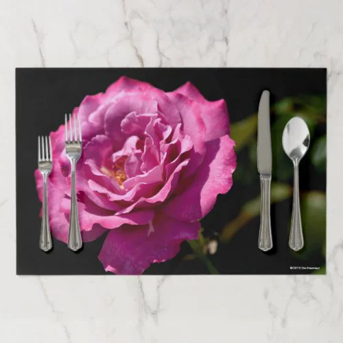 Angel Face Rose Up-Close Paper Placemat